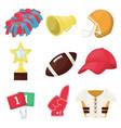american football equipment championship game vector image