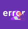 an error notification banner for website vector image