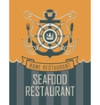 anchor and seafood vector image vector image
