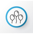 balloons icon symbol premium quality isolated air vector image