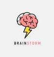 brainstorm icon idea brain storm lighting vector image vector image