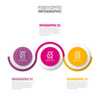 business infographics strategy timeline design vector image