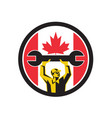 canadian mechanic canada flag icon vector image vector image