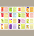 canned products with receipts vector image