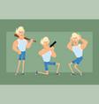 cartoon flat blonde sportsman character set vector image vector image