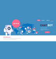 chatbot robot speech bubble people avatar global vector image
