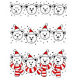 christmas document vector image vector image