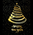 christmas tree from red spiral with star on top vector image