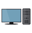 computer with monitor vector image vector image