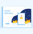concept website delivery orders vector image vector image