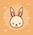 cute rabbit icon image vector image vector image