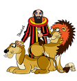 daniel and lions vector image