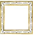 decorative vintage frame gold jewish star vector image vector image