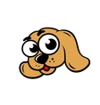 Dog face sign vector image
