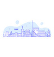 dublin skyline ireland buildings city vector image vector image