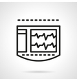 ECG monitor black line icon vector image