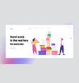 employees deadline stress website landing page vector image vector image