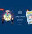 flat casino and gambling template vector image