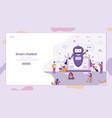 flat smart chatbot welcomes customer vector image