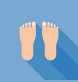 foot sign icon with long shadow vector image vector image