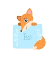 Fox With The Template For The Message vector image vector image