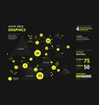 futuristic infographic information aesthetic vector image