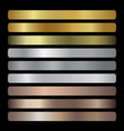 gradients collection gold golden gold vector image vector image
