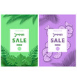 green and purple summer sale background vector image vector image