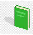 green closed book isometric icon vector image vector image