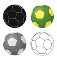 green soccer ball icon in cartoon style isolated vector image vector image