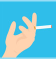 hand with a cigarette modern flat vector image