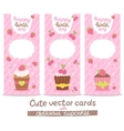 Happy Birthday card background with cupcakes vector image vector image