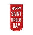 happy saint nicholas day banner design vector image