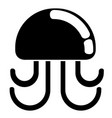isolated jellyfish icon vector image