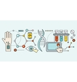 Laboratory with Human DNA Concept Scientific vector image vector image