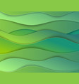 layered papercut carve 3d backdrop green wavy vector image vector image
