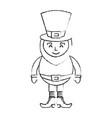 leprechaun sad cartoon st patricks day character vector image