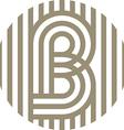 letter line b alphabet design vector image vector image