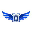 letter m wings logo icon concept vector image vector image