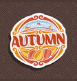 logo for autumn season vector image vector image