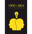 mind and idea vector image