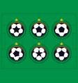 modern professional set of balls emblem vector image vector image