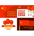 national day in china banner set flat style vector image vector image