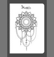 notebook mehndi pattern vector image
