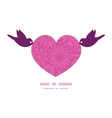 pink abstract flowers texture birds holding heart vector image