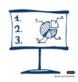 Presentation screen with graphic diagram vector image vector image