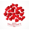 Red heart cut from paper vector image vector image