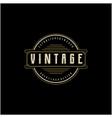 retro vintage badge emblem logo design vector image