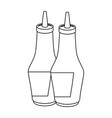 sauce bottle icon vector image vector image