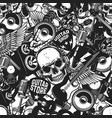 seamless pattern with rock and roll music vector image vector image